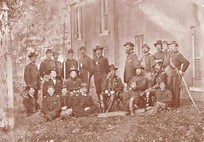 Col. Blake with officers during the Civil War