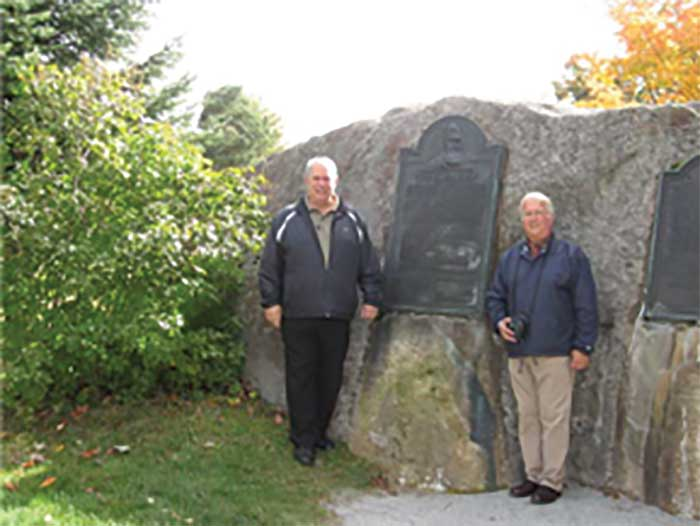 Authors at the John Brown Raiders Memorial
